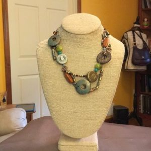 Stylish, elegant versatile beaded necklace